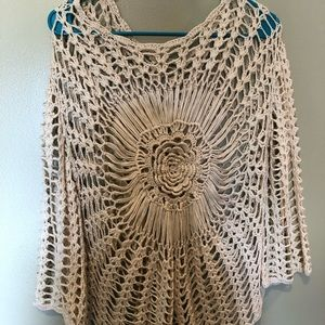 Gorgeous knit sweater - cream colored S/M